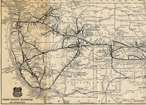 Mapa Union Pacific Railroad 1925