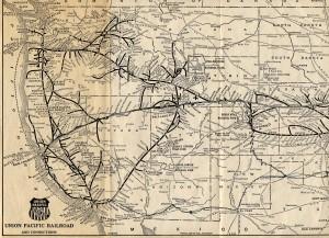 Mapa Union Pacific Railroad 1925