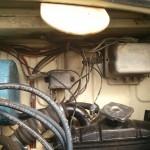 Aquí sin bobina, observar bien los cables sueltos y no confundirlos!