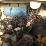 Vista general del motor con el kit una vez instalado